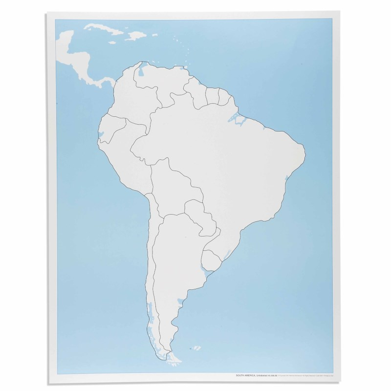 South America Control Map: Unlabeled