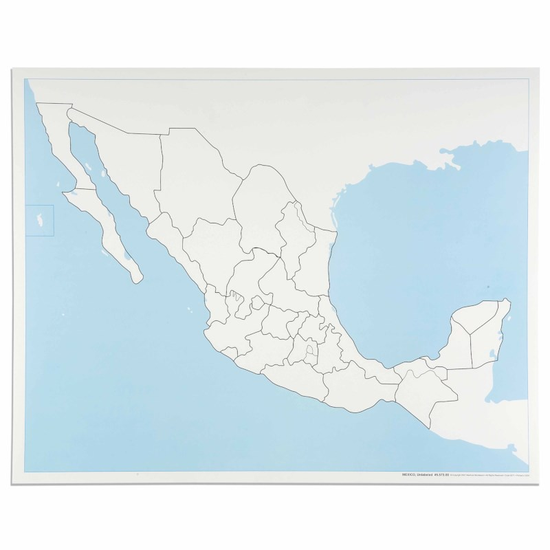 Mexico Control Map: Unlabeled