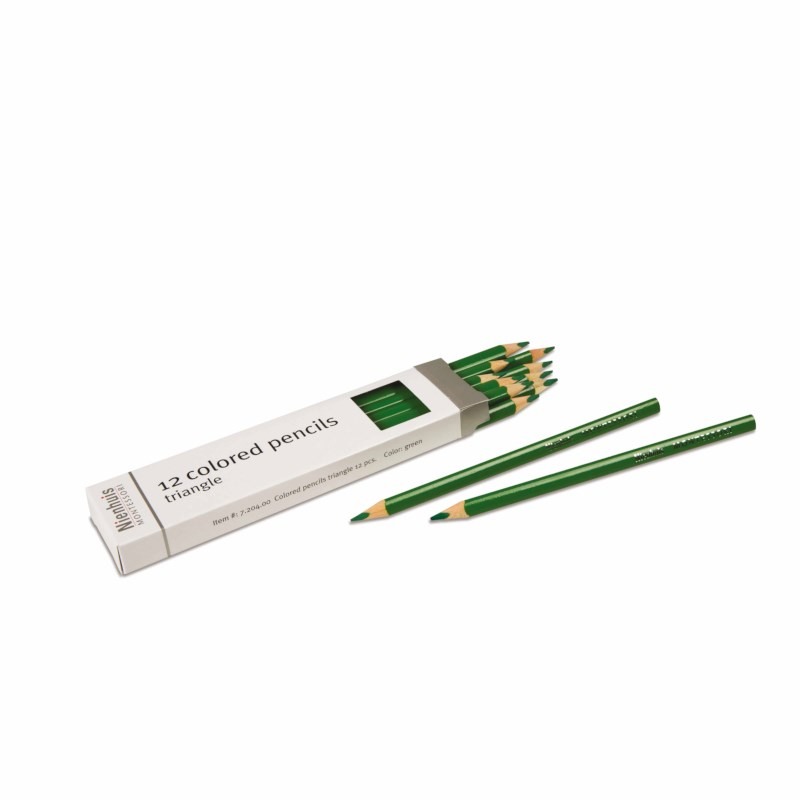 3-Sided Inset Pencil: Green