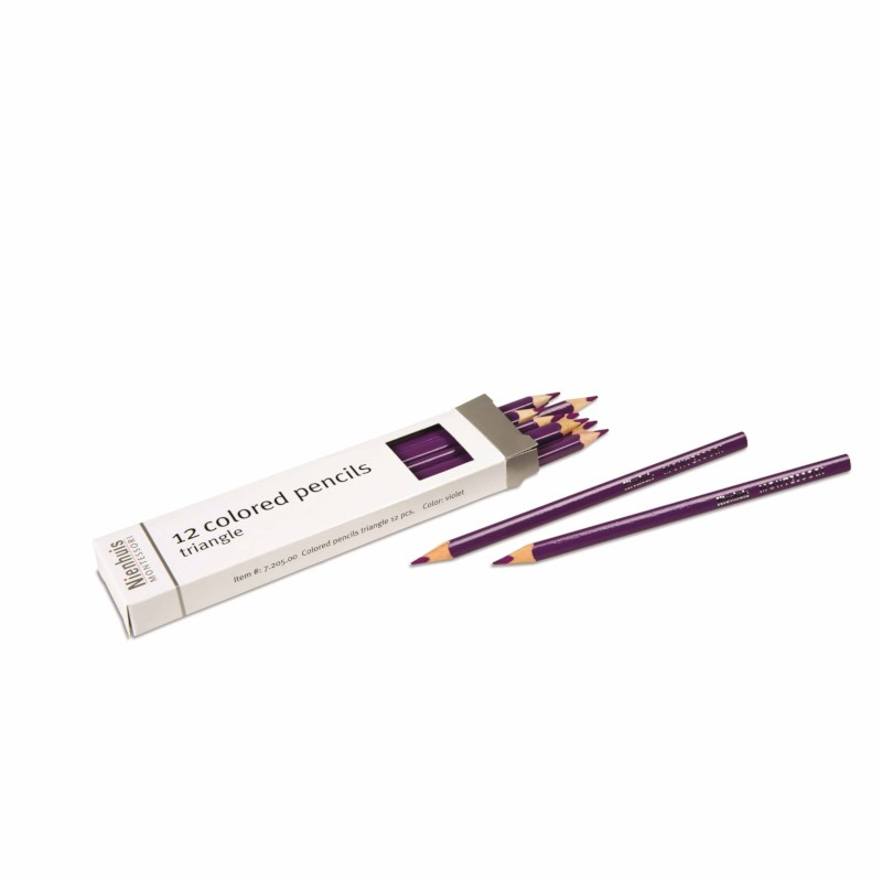 3-Sided Inset Pencil: Violet
