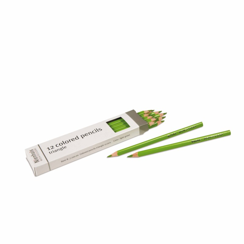 3-Sided Inset Pencil: Light Green