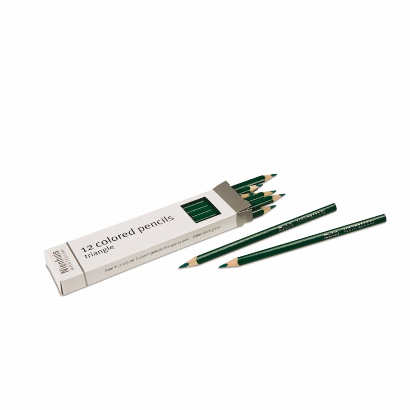 3-Sided Inset Pencils: Dark Green