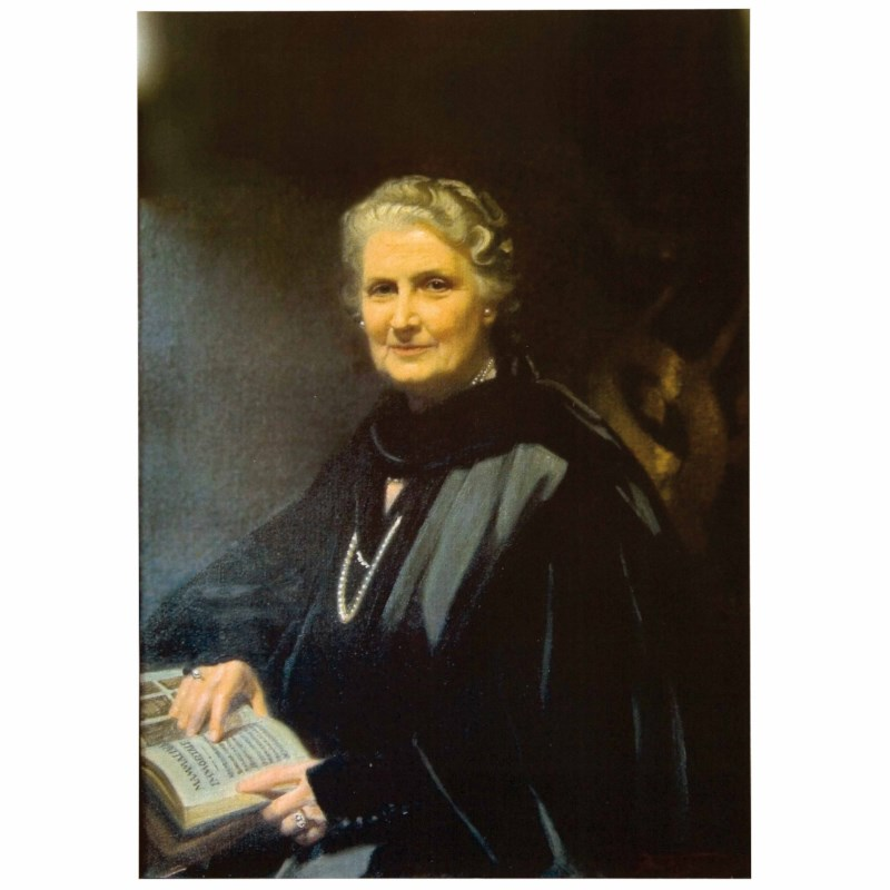 Color Photo - Maria Montessori
