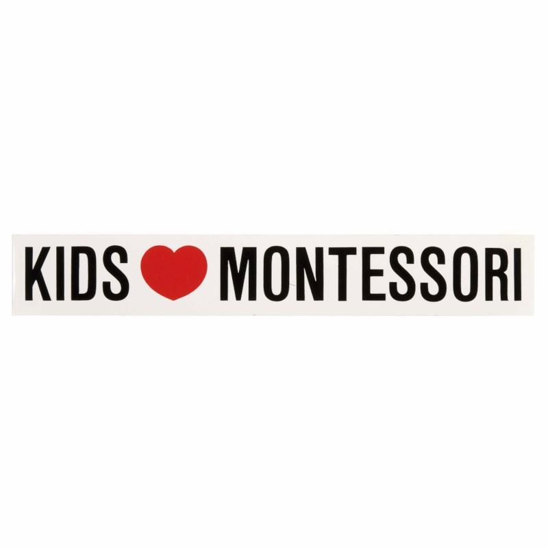 Vinyl Sticker: Kids Love Montessori