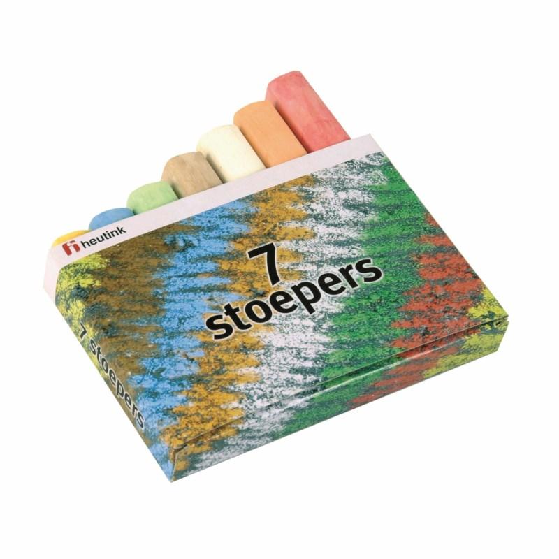 Sidewalk / playground chalk - Box of 7 colours