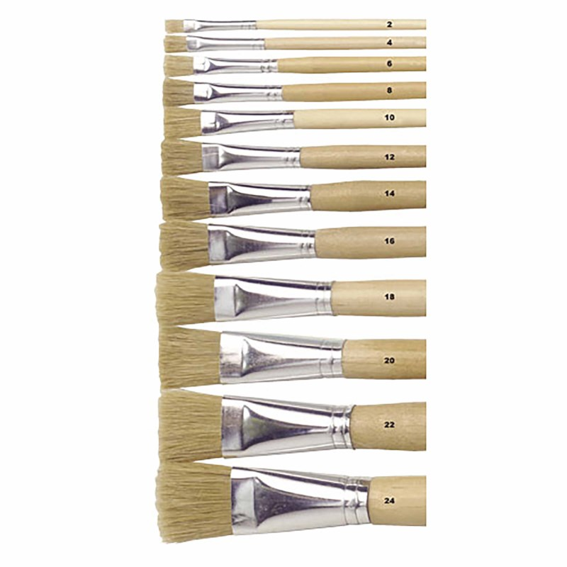 Paint brushes - Lyons - Flat ferrule, long handled - Nr. 20