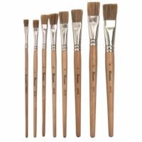 Paint brushes - Lyons - Flat ferrule, short handled - Nr. 4