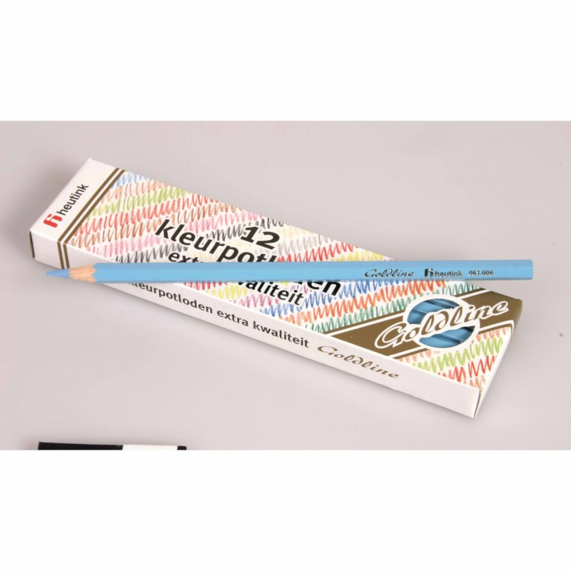 Crayons hexagonal Goldline - Heutink - Carton of 12 - Light blue