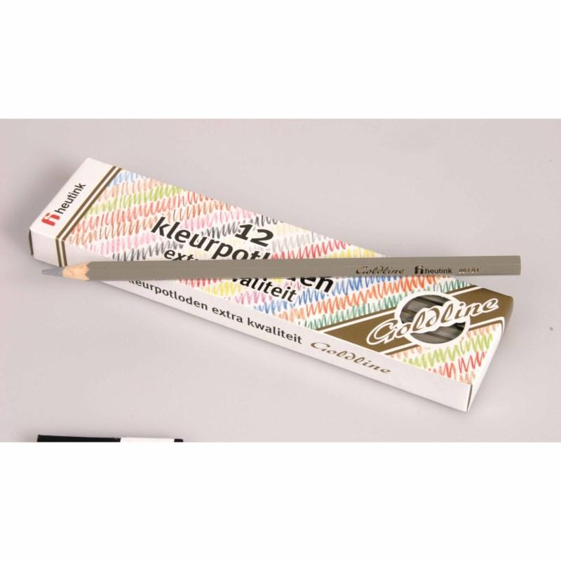 Crayons hexagonal Goldline - Heutink - Carton of 12 - Grey