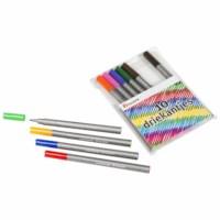 Felt tip pens - Triangular - Heutink - Pouch of 10 colours