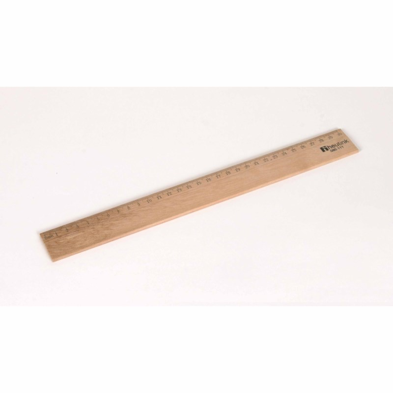 Ruler - Wood - 30 cm