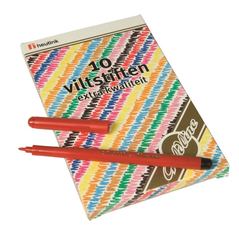 Felt tip pens - Goldline - Heutink - Pouch of 10 colours