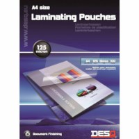 Laminating sheets - 125 µ A4 216 x 303 mm