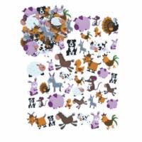 Rubber figures - Farm animals - 96 pcs.
