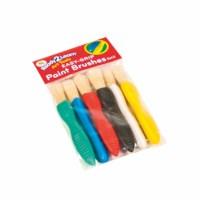 Easy-grip paint brushes - 6 pcs. - 1 Size