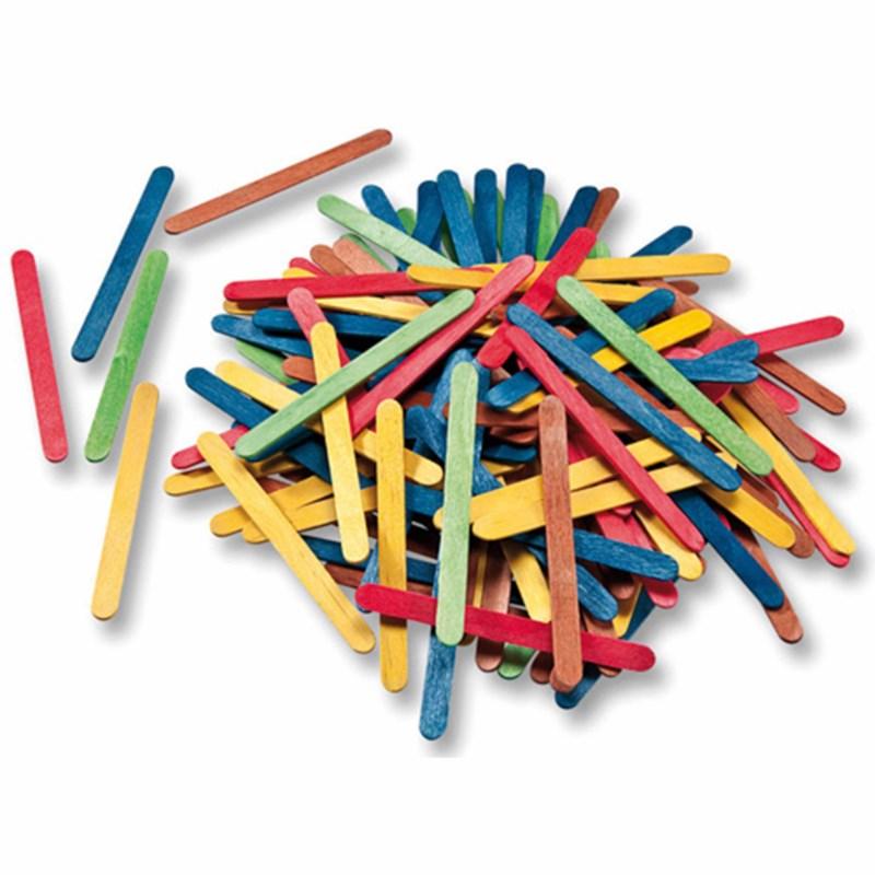 Ice lolly sticks - Coloured - 500 pcs.
