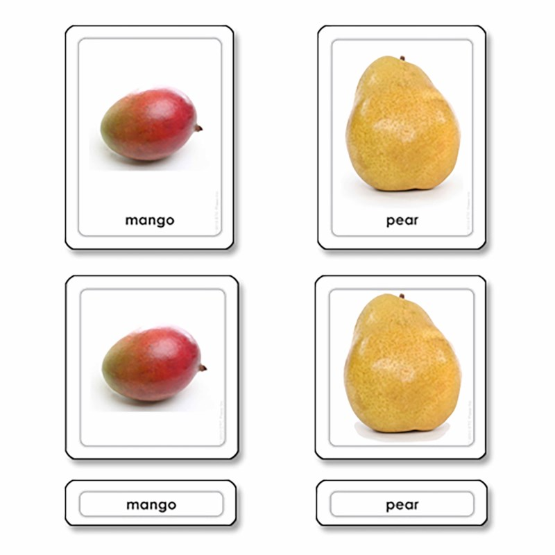 Fruits 3 Part Cards