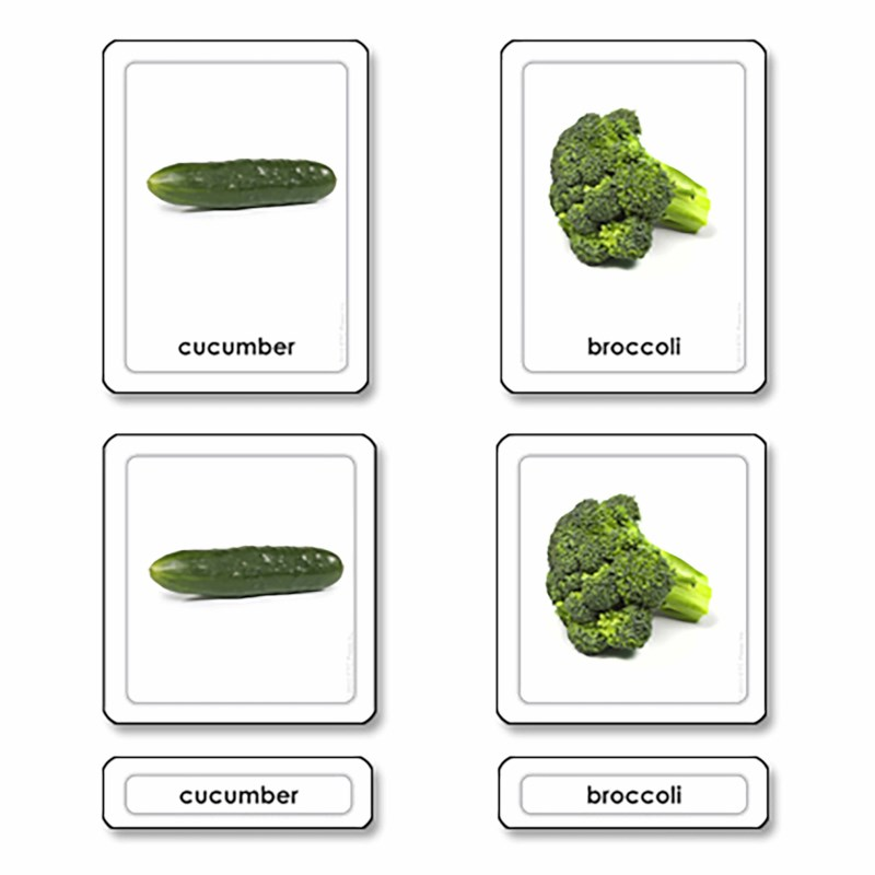 Vegetables 3 Part Cards