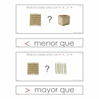 Igual A-Mayor Que-Menor Perlas Doradas