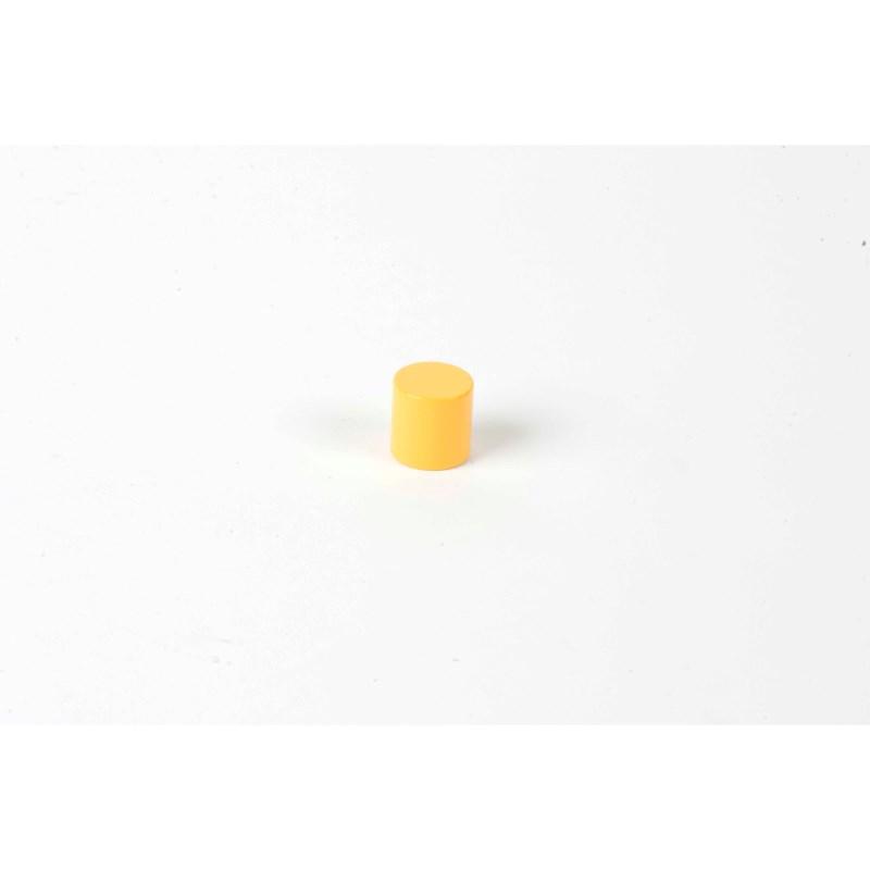 Farbige Zylinder: 3. gelber Zylinder