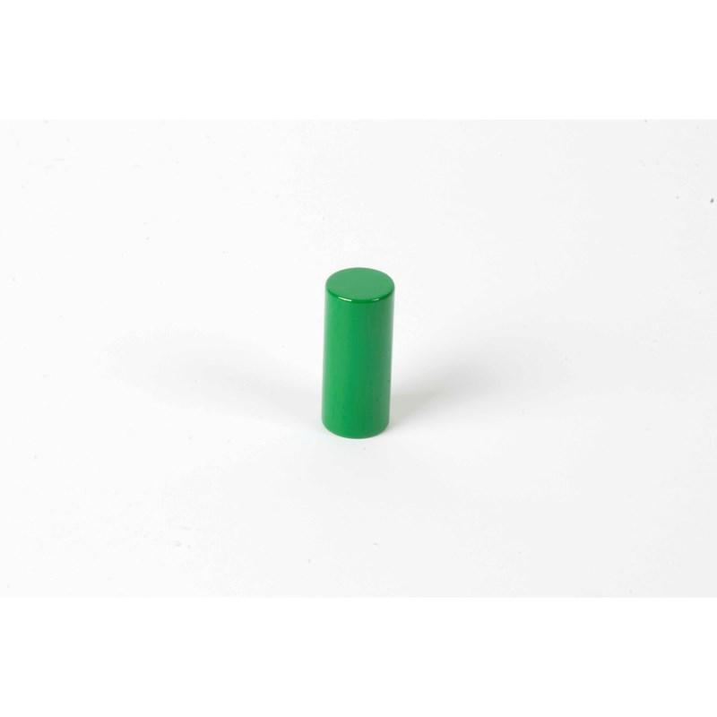 Farbige Zylinder: 3. grüner Zylinder
