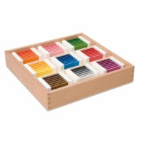 Farbtäfelchen: Schattierungskasten mit neun Farben