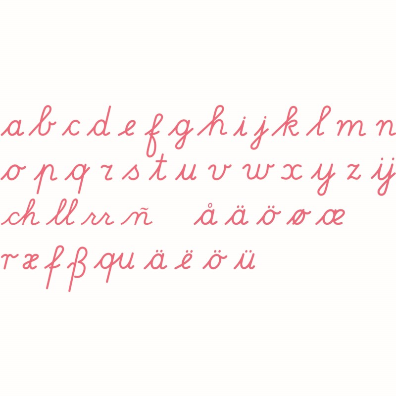 bewegliches alphabet mittel lateinische ausgangsschrift rot heutink deutschland. Black Bedroom Furniture Sets. Home Design Ideas