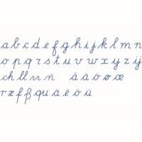 Bewegliches Alphabet, mittel: lateinische Ausgangsschrift - blau