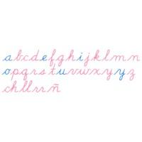 Wooden Movable Alphabet: US Cursive