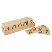 Große Zahlenkarten im Kasten 1-9000: Holz