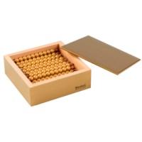 Kasten mit 45 goldenen Zehnerstangen: Lose Perlen, Kunststoff