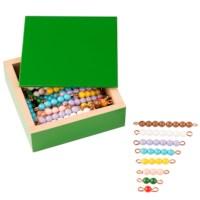 Farbige Perlentreppen - 10 Sätze: Lose Perlen, Kunststoff
