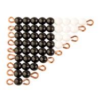 Schwarz-weiße Perlentreppen - 1 Satz: Lose Perlen, Kunststoff