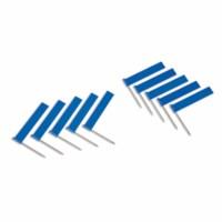 Fahne mit Nadel: blau (10)