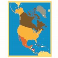 Puzzlekarte Nordamerika