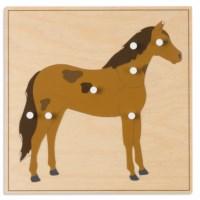 Tierpuzzle: Pferd