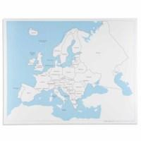 Kontrolkarte Europa: beschriftet