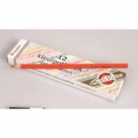 Buntstifte Hexagonal Goldline - Heutink - Karton mit 12 Stück - Hellrot