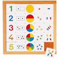 Zähldiagramm 1 - 5