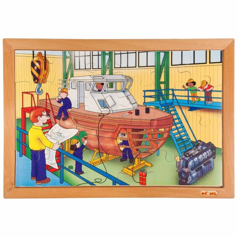 Technik Puzzle - Schiffswerft