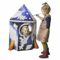 Karton Spielhaus Rakete - Educo - Mit Aufdruck
