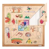 Spinnen Sortierpuzzle - Die vier Jahreszeiten