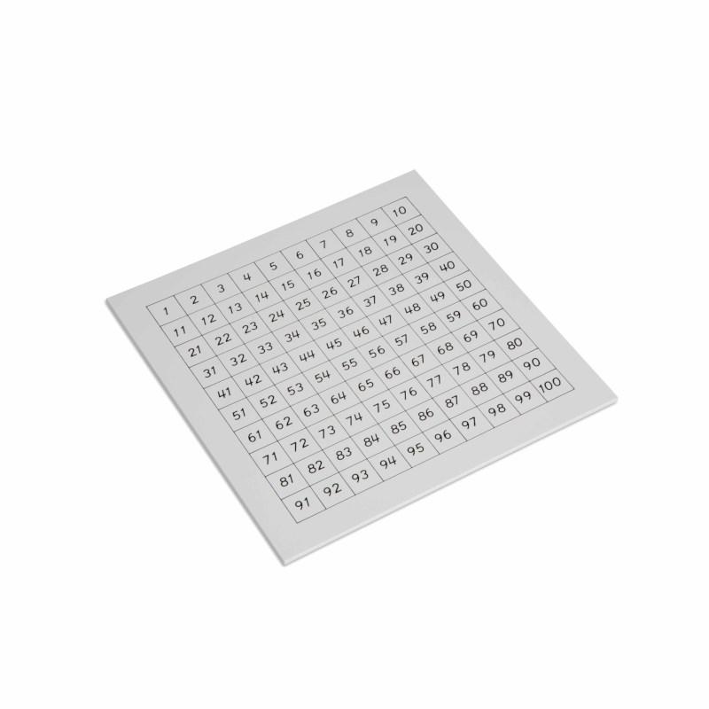 Free Montessori Hundred Board Printable