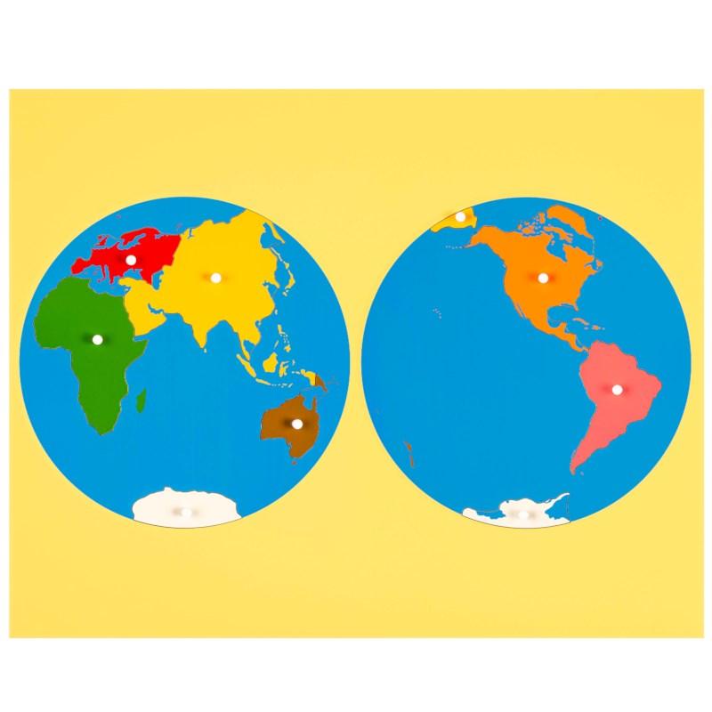 Puzzle Map: World Parts - Asia View   Nienhuis Montessori