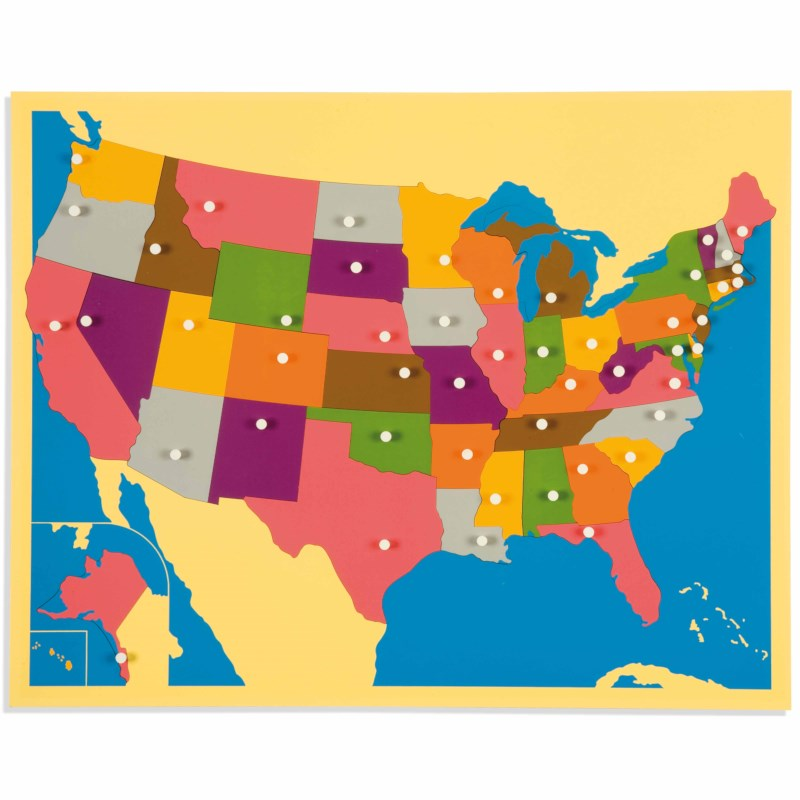 Picture Map Of Usa States.Puzzle Map The United States Nienhuis Montessori