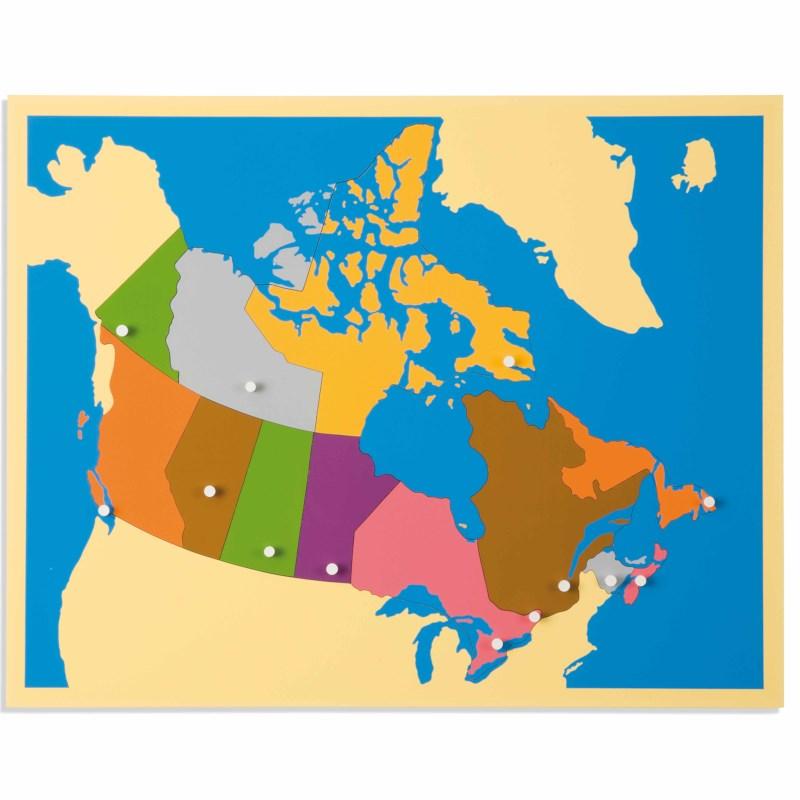 Map Of Canada Puzzle.Puzzle Map Canada Nienhuis Montessori