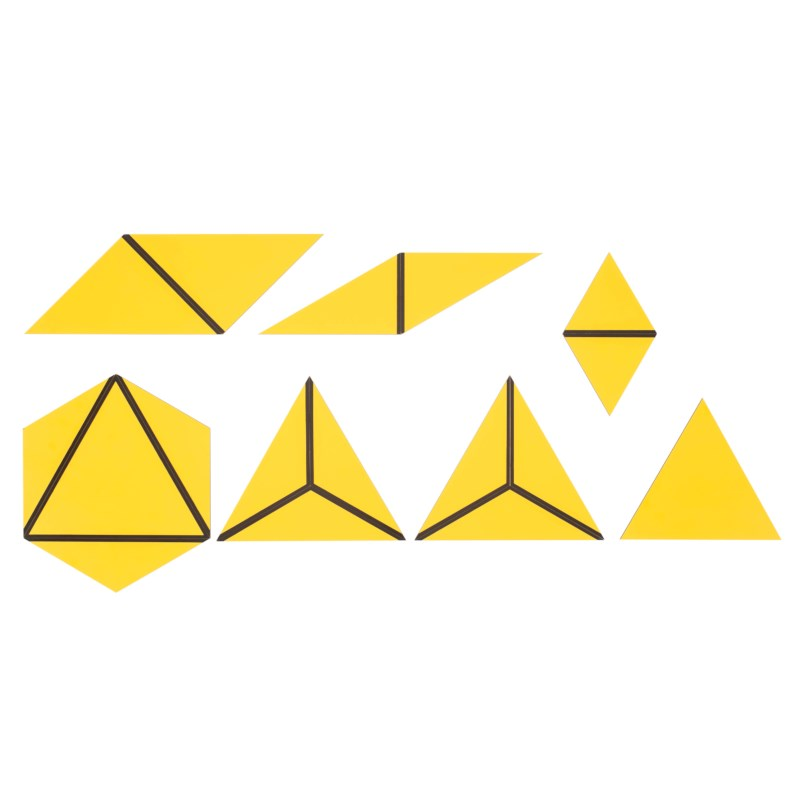 Set Of Yellow Constructive Triangles