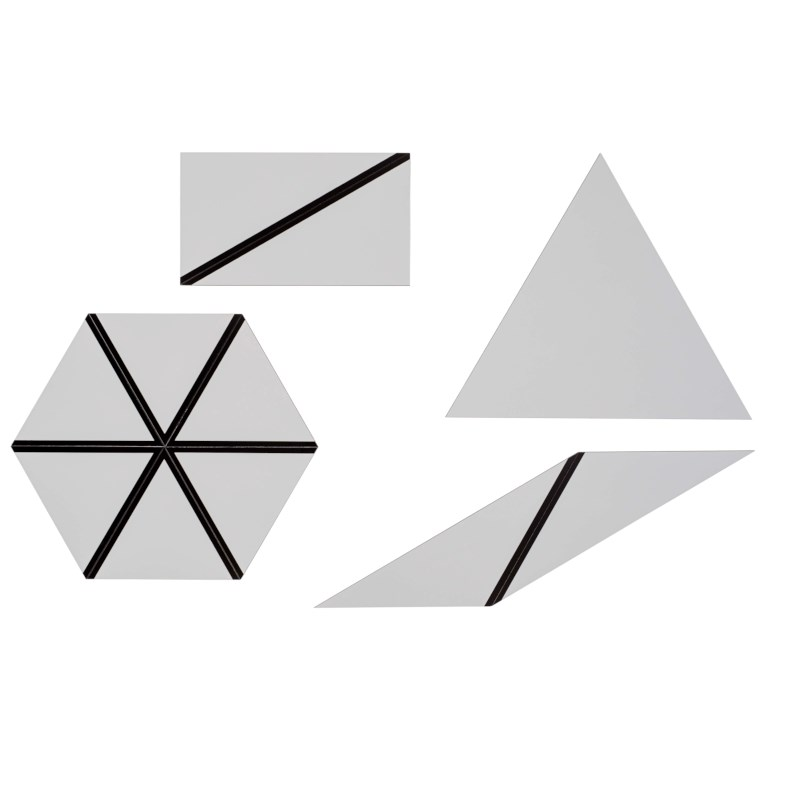Set Of Gray Constructive Triangles