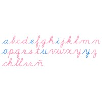 Large Movable Alphabet: US Cursive