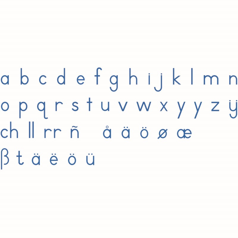 Small Movable Alphabet: International Print - Blue